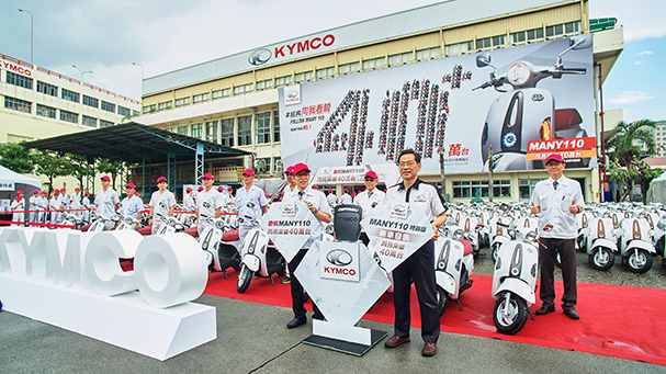 [IN新聞] KYMCO MANY銷售42萬台創紀錄,新款施華洛世奇水晶元素聯名車款今夏登場